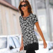 Blancheporte Tunika s grafickým designem bílá černá