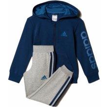 Adidas Chlapecká tepláková souprava modro-šedá