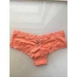 Victoria s Secret Krajkové Kalhotky Brazilky Lace-Trim Cheeky Panty Victoria´s  Secret Oranžová bae5cbf5c9