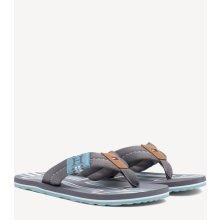 d1f26b7673 Tommy Hilfiger šedé pánské žabky Badge Textile Beach Sandal Steel Grey