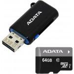 ADATA microSDXC 64GB UHS-I + USB čtečka AUSDX64GUICL10-ROTGMBK