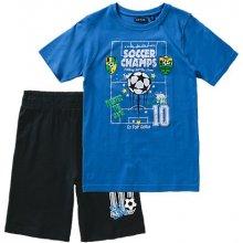 Blue Seven Dětská souprava modré tričko a kraťasy Football