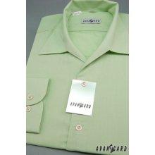 Avantgard pánská Zelená košile s rozhalenkou 457-8 fbd09f61db