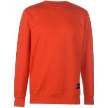 Calvin Klein Jeans Institute Hem Crew Sweater Pumpkin Red