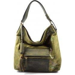 Valeria Design 20094 duhová lesklá moderní kabelka zelená ... 891d3875873