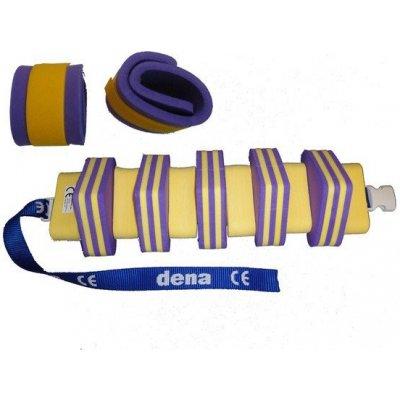Plavecký pás 1000 + nadlehčovací rukávky > varianta Fialová-Žlutá s pruhem