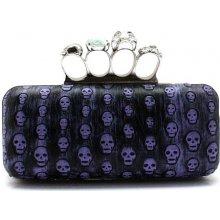 Ever Pretty punková kabelka s fialovými lebkami FS39181PP černá