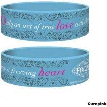 Náramek silikonový Frozen True Love modrý šířka WRJR67159 CurePink