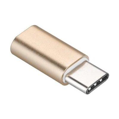 PremiumCord Adaptér USB 3.1 konektor C/male - USB 2.0 Micro-B/female, zlatý - kur31-08