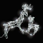 TECTAKE Vánoční osvětlení LED venkovní svítidla bílé soby