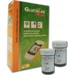 GlucoLab Testovací proužky 50 ks + Glukometr GlucoLab