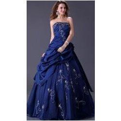 Tmavě modré plesové šaty s korzetem alternativy - Heureka.cz c62b5881070