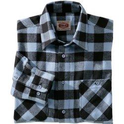 a7d0a9a3296 Blancheporte Kostkovaná flanelová košile modrá černá