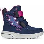 da2263f6d0d Geox Dívčí svítící zimní boty Sveggen - modré