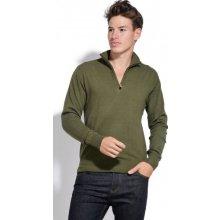 William de Faye pánský svetr zelená