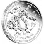 Lunární Stříbrná investiční mince Year of the Snake Rok Hada 5 Oz 2013