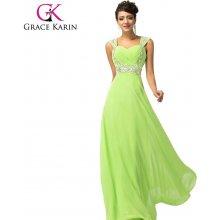 50ed7edea06a Grace Karin společenské šaty dlouhé CL4446-2 zelená