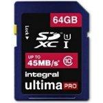Integral SDXC 5MBs 64GB Class 10 INSDX64G10-45