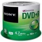 Sony DVD+R 4,7GB 16x, spindle, 50ks (50DPR47SP)
