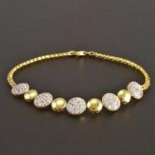 Náramek Goldpoint zlatý s ozdobami délka 1.04.NR005029.18