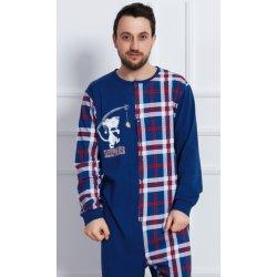 fd01dce025b1 Pánské pyžamo Sleepwalker pánský overal dlouhý tm.modrý