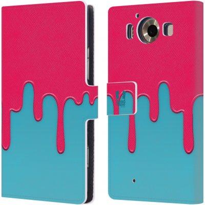 Pouzdro HEAD CASE Microsoft Lumia 950 / LUMIA 950 DUAL SIM Rozlitá barva růžová a modrá