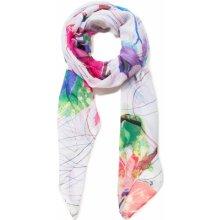 Desigual barevný šátek Foul Logomotion 1c5f5e23f98