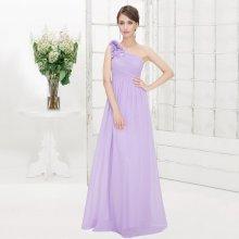 Dlouhé plesové šaty na rameno levandulová 816a0aa153