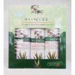 OlivAloe ® Natural cosmetics Tělové mléko Q3 & Q6 + Sprchový gel + Peelingový gel 3 x 90 ml dárková sada
