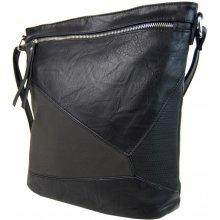 elegantní sešívaná crossbody kabelka AE-0914 černá