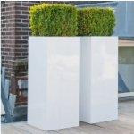 Fiberstone Square vysoký White lesklý 50x50x100cm