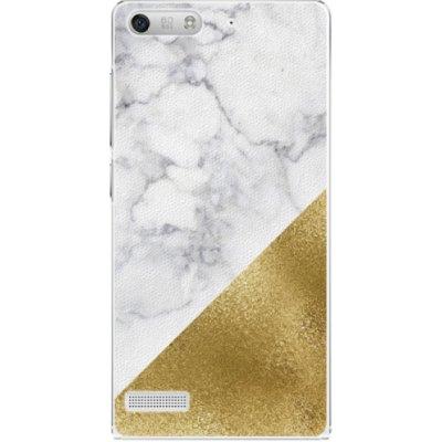 Pouzdro iSaprio zlaté and WH Marble - Huawei Ascend G6