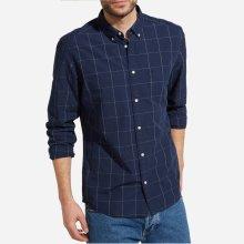 Wrangler Pánská košile LS Button Down Shirt Dark indigo W5874NJ1E 148716a6e1