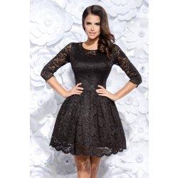 Krajkové krátké šaty s 3 4 rukávem černá alternativy - Heureka.cz 2fac7f5fa1