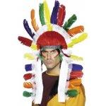 Indiánská čelenka náčelník barevná