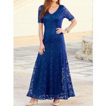 5fa14f569bc6 Nejnovější recenze ze sekce Plesové šaty. Dámské dlouhé krajkové plesové a  společenské šaty modrá