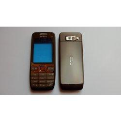 Kryt na mobilní telefon Kryt NOKIA E52 hnědý