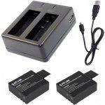 Nabíječka + 2 baterie pro akční kamery SJCAM™
