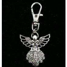 Přívěsek na klíče a kabelku na karabince Něžný anděl strážný 76efe5fd2a2
