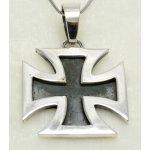 Stříbrný přívěsek maltézský kříž velký, PR371