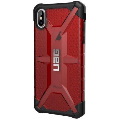 Pouzdro Urban Armor Gear Plazma IPHONE XS Max červené čiré