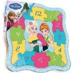 Bambilon dřevo puzzle dětské výukové hodiny Frozen Ledové Království