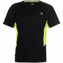 Karrimor Short Sleeve Run T Shirt Mens Black/Fluo Yell