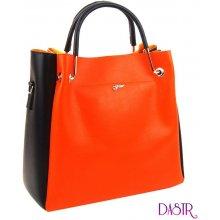 6140105ae2 Grosso elegantní dámská kabelka S728 Neonová oranžová