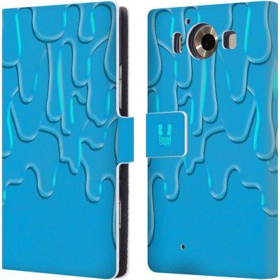 Pouzdro HEAD CASE Microsoft Lumia 950 / LUMIA 950 DUAL SIM ZÁPLAVA BARVA tyrkysová modrá