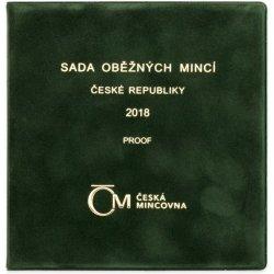 Česká mincovna Sada oběžných mincí 2018 proof semišový obal 236 g