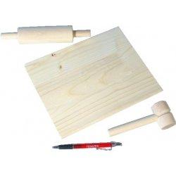 Wiky Nádobí váleček prkýnko palička dřevo 24x18cm v sáčku