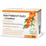 Noventis Rakytníkový olej + vitamín D 60 kapslí
