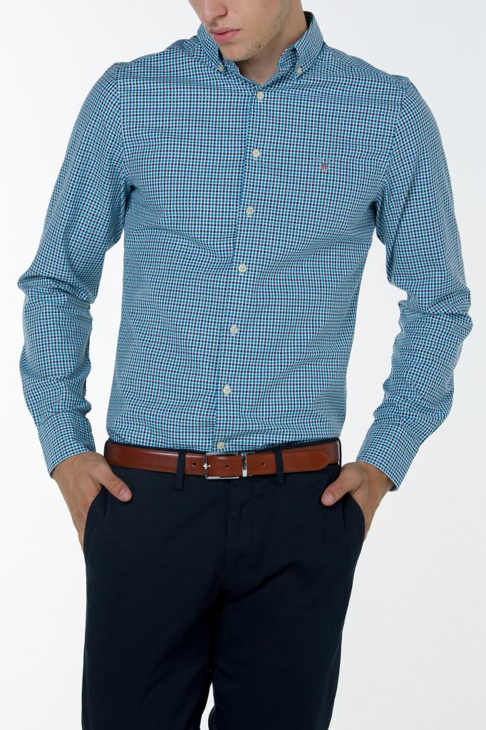 Gant pánská košile O1. TECH PREP TWILL T CHECK REG BD modrá od 2 939 Kč -  Heureka.cz 081755497a