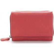 Delami Kožená červená peněženka 8230 červená